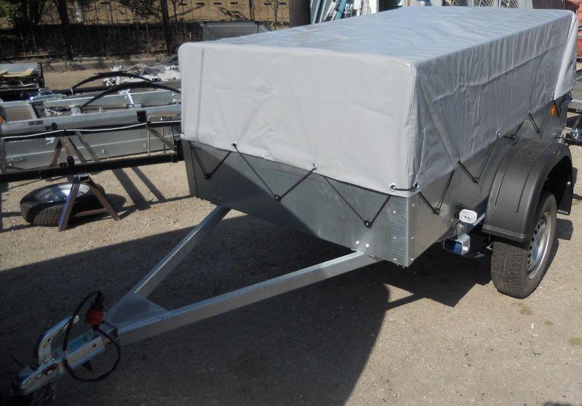 Прицеп Трейлер-82940Т Лайт стандартный заводской тент-каркас : вид спереди
