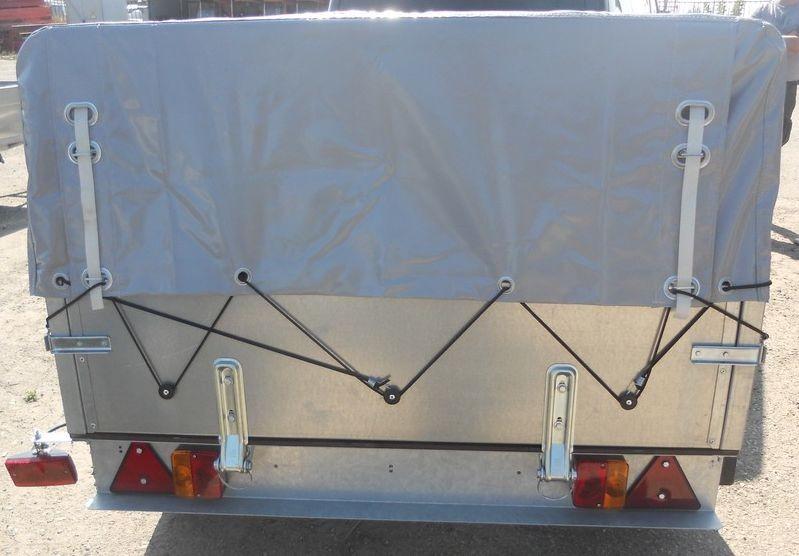 Прицеп Трейлер-82940Т Лайт стандартный заводской тент-каркас : вид сзади