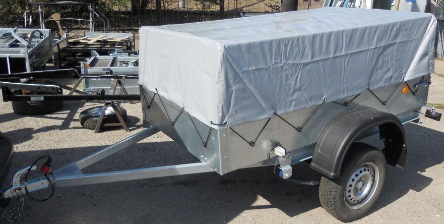 Прицеп Трейлер-82940Т Лайт стандартный заводской тент-каркас : вид сбоку