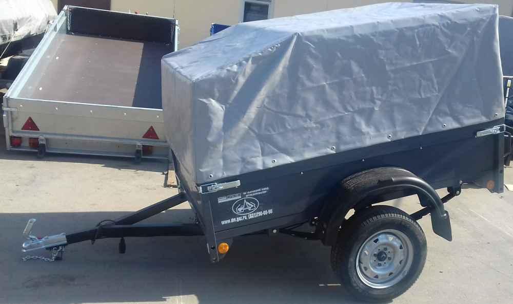 Прицеп САЗ 82994 с высоким аэродинамическим тентом и дугами