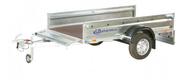 Прицеп КМЗ-7194 C1 Мастер прицеп с откинутыми задним и передним бортами