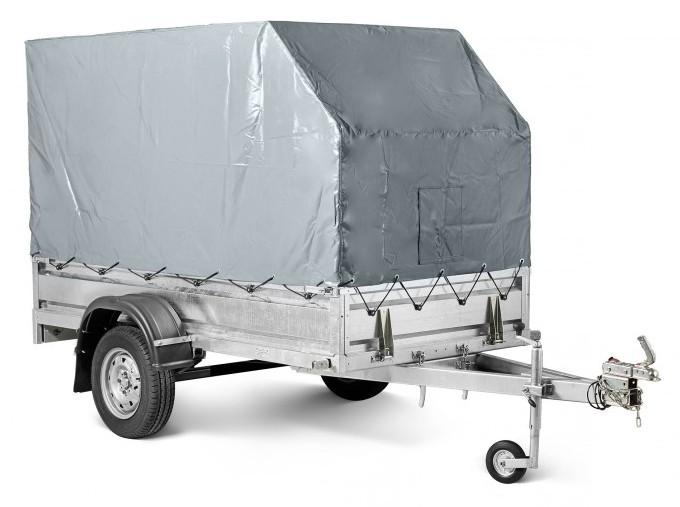 Прицеп КМЗ-7194 C1 Мастер прицеп с аэродинамическим тентом-каркасом высотой 1500 мм от пола прицепа с опорным колесом